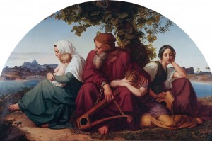 The mourning jews in exile (Psalm 137) *oil on panel *183 x 280 cm *1832